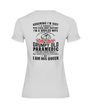 Paramedic's Wife: I am his Queen Premium Fit Ladies Tee thumbnail