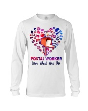 Postal Worker Love what you do  Long Sleeve Tee tile