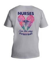 Nurses earn their wings everyday V-Neck T-Shirt tile