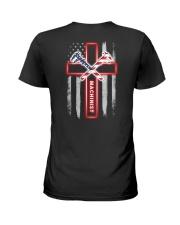 Proud American Machinist Flag Ladies T-Shirt thumbnail