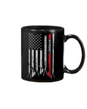 Proud American Lineman Flag Mug tile