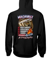 Machinist: Straight hustle all day every day Hooded Sweatshirt tile