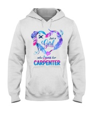 Just a Girl who loves her carpenter Hooded Sweatshirt front
