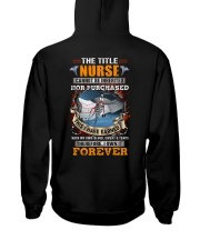 The Title Nurse Own it Forever Hooded Sweatshirt back