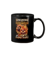 Electrician: Warning for Stupid People Mug thumbnail