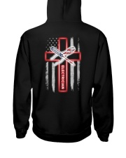 Proud American Electrician Flag Hooded Sweatshirt tile