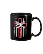 Proud American Electrician Flag Mug tile
