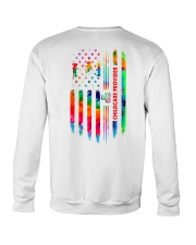Proud Childcare Provider Tie Dye US Flag Crewneck Sweatshirt thumbnail