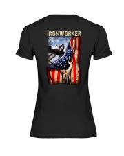 Ironworker US Flag Premium Fit Ladies Tee thumbnail
