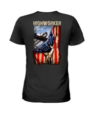 Ironworker US Flag Ladies T-Shirt thumbnail