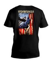 Ironworker US Flag V-Neck T-Shirt thumbnail