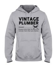 Vintage Plumber Hooded Sweatshirt thumbnail