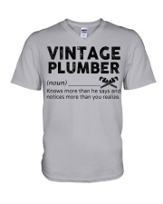 Vintage Plumber V-Neck T-Shirt thumbnail