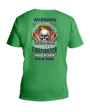 Sarcastic Firefighter V-Neck T-Shirt tile