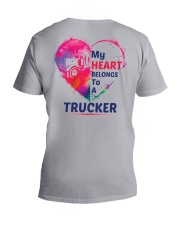 My heart belongs to my Trucker V-Neck T-Shirt tile