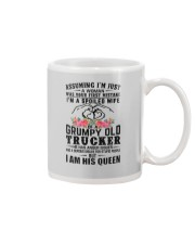 Trucker's Wife: I am his Queen Mug thumbnail