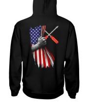 Electrician US Flag Hooded Sweatshirt back