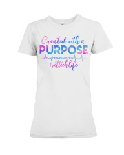 Vet Tech Created with a Purpose Premium Fit Ladies Tee thumbnail
