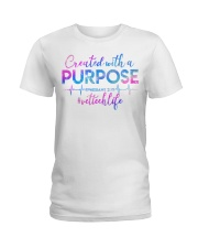 Vet Tech Created with a Purpose Ladies T-Shirt front