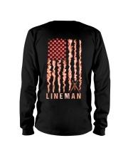 Proud American Lineman Flag Long Sleeve Tee tile