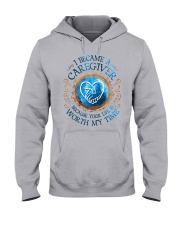Caregiver because Your life is worth my time Hooded Sweatshirt thumbnail