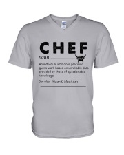 Chef dictionary V-Neck T-Shirt thumbnail