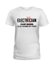 Electrician: I am not arguing i am explaining Ladies T-Shirt tile