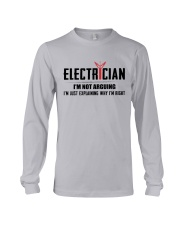 Electrician: I am not arguing i am explaining Long Sleeve Tee thumbnail