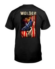 Proud American Welder Flag Premium Fit Mens Tee tile