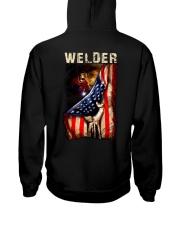 Proud American Welder Flag Hooded Sweatshirt tile