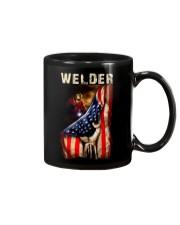 Proud American Welder Flag Mug tile