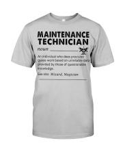 maintenance Technician dictionary Classic T-Shirt front