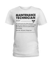 maintenance Technician dictionary Ladies T-Shirt tile