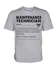 maintenance Technician dictionary V-Neck T-Shirt tile