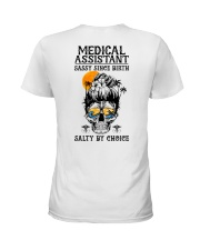 Medical Assistant Salty by Choice Ladies T-Shirt back