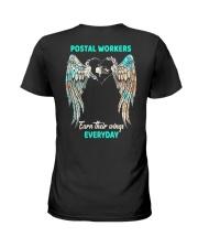 Postal Workers earn their wings everyday Ladies T-Shirt thumbnail