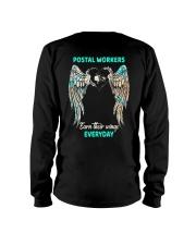 Postal Workers earn their wings everyday Long Sleeve Tee thumbnail