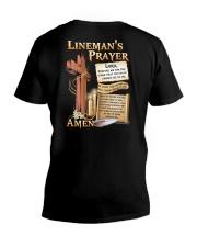 Lineman's Prayer V-Neck T-Shirt tile