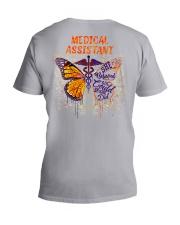 Medical Assistant She believed she could V-Neck T-Shirt tile