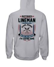 Retired Lineman I am staying home Hooded Sweatshirt tile