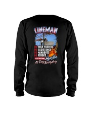 Lineman: Straight hustle all day every day Long Sleeve Tee thumbnail