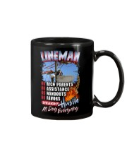 Lineman: Straight hustle all day every day Mug thumbnail