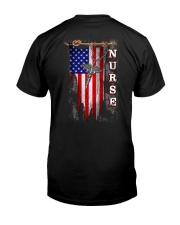 Proud American Nurse Classic T-Shirt back
