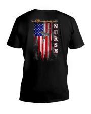 Proud American Nurse V-Neck T-Shirt thumbnail