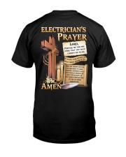 Electrician's Prayer Classic T-Shirt back