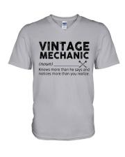 Vintage Mechanic V-Neck T-Shirt thumbnail