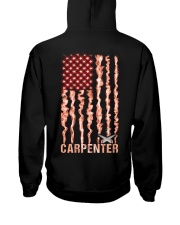 Proud American Carpenter Flag Hooded Sweatshirt tile