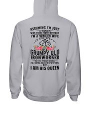 Ironworker's Wife: I am his Queen Hooded Sweatshirt thumbnail