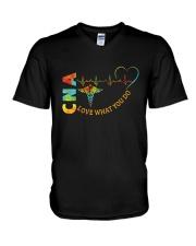 CNA: Love what you do V-Neck T-Shirt tile