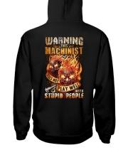 Machinist: Warning for Stupid People Hooded Sweatshirt thumbnail